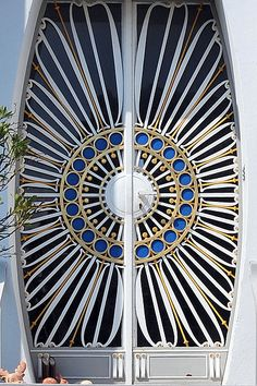 Door of house at Franz-Keim-Gasse 6, Brunn am Gebirge, Austria