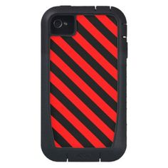 Black and Red Stripes Case-Mate iPhone 4 Case