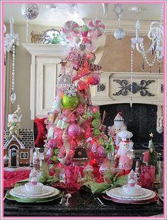 Purple Chocolat Home: Sugarplum Tree Tablescape