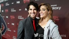 Some #glee and #AHSHotel love on the #ScreamQueens carpet w/ @DarrenCriss & @MiaVonGlitz! @samsungmobileUS