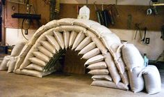 EARTHBAG ARCHES -  How to make a simple arch form