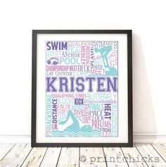 Swimming Personalized Print - PrintChicks