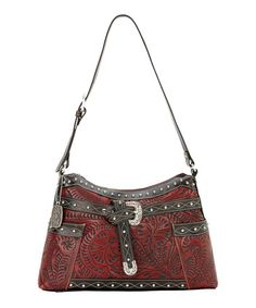 American West Crimson Red   Chocolate Shoulder Bag 062fa66ab9c05