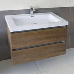 Combining style and functionality the Jovita Vanity Unit comes in 4 different finishes and is the perfect centre-piece for your bathroom  http://www.bathroomheaven.com/jovita-gloss-white/jovita-wall-hung-blum-2-drawer-unit-with-basin-80x48cm-textured-oak-25628.aspx