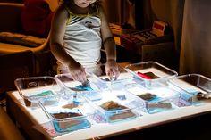 Nuestros materiales para la mesa de luz