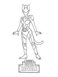 Fortnite battle royale coloring page SgtWinter Skin