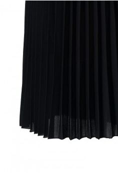 Chiffon Black Pleated Maxi Skirt - Maxi Skirt - Trend and Style - Retro, Indie and Unique Fashion