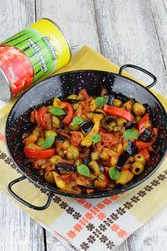 Caponata siciliana - CAIETUL CU RETETE Ratatouille, Paella, Ethnic Recipes, Food, Essen, Meals, Yemek, Eten