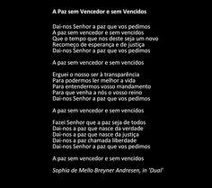 """Sophia de Mello Breyner Andresen - """" A Paz sem Vencedor e sem Vencidos"""""""