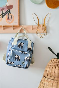 Studio Ditte backpack with pandas. Nice sturdy backpack for boys and girls who are going to school or daycare for the first time. On the inside of the bag you will find a pocket over the entire back that closes with velcro. The main compartment is spacious and has a reinforced bottom, which keeps the bag in good shape. You can store a surprising amount of stuff in this backpack. Styling & photography: huisvanzes #backtoschool #backpack Case Studio, Boys Backpacks, Pet Bottle, Fashion Backpack, Back To School, Boy Or Girl, Fashion Photography, Recycling, Pencil