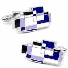 Purple Mondrian Cufflinks by Cufflinksman