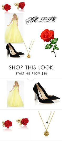 """""""belle"""" by tomboyfootball on Polyvore featuring beauty, Alyce Paris and Disney"""