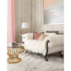 Old Hickory Tannery Sherwood Sheepskin Settee ($10,599) ❤ liked on Polyvore featuring home, furniture, sofas, home stuff, old hickory tannery furniture, handcrafted furniture, hand made furniture, handmade furniture and old hickory tannery sofa