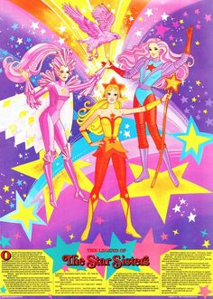 Legend of the Star Sisters of She-Ra Princess of Power Childhood Images, Childhood Memories, 80s Characters, Jem And The Holograms, She Ra Princess Of Power, Barbie, Classic Toys, Magical Girl, Sisters