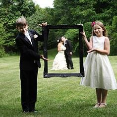 cute wedding day photo idea... would use my soon to be niece and nephew