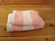 Vintage Cannon Royal Family Pink White Striped Hand Towel Washcloth | eBay