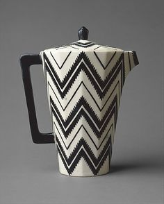 ayiii istiyorum şunu Coffee Pot, ca. 1912. Pavel Janàk (Czech, 1882–1956) The angular form and boldly abstract graphic patterning of this coffeepot are characteristic of Czech Cubism.