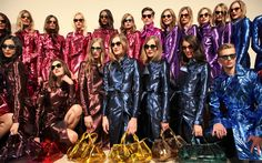 Backstage at the Burberry Prorsum Womenswear Spring/Summer 2013 Show