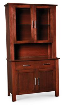"""Option for China Hutch (Simply Amish East Village 2-Door Open Hutch) Based on the measurements (48"""" available) of where I would like to put the hutch this is the one that would fit."""