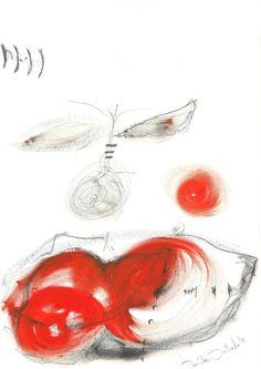 DARTGR1115004 #Heart #Eye #Black #love #Minimal #DanielaDallavalle #Grafismi #loveistheanswer #ink #sketches #art #face #lips