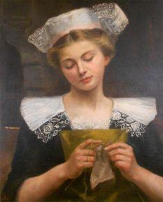 Vasselon Jeanne - Jeune femme bretonne