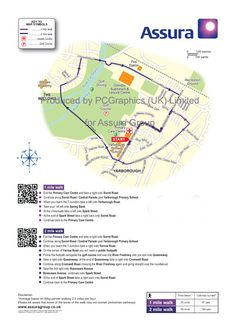 Walk map of Freshney Green produced by PCGraphics for Assura Group.   See more maps on our website http://www.pcgraphics.uk.com