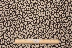 Spots Upholstery Fabric in Black/Beige $9.95 per yard