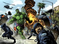 #Hulk #Fan #Art. (Hulk-vs-Swat) By: DRDOOMSDAY-360. (THE * 5 * STÅR * ÅWARD * OF: * AW YEAH, IT'S MAJOR ÅWESOMENESS!!!™) ÅÅÅ+