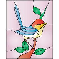 bird stined glass