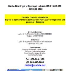 Desde RD$1,600,000 en Santo Domingo y Santiago - 809 605 1170 - Publicidad