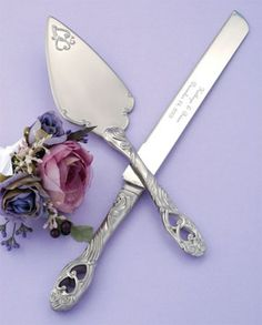 Beautiful wedding cake server set @TheWeddingOutlet.com - Favors, Gifts & Accessories #theweddingoutlet