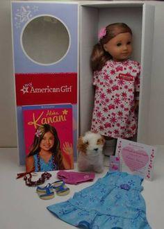 EXPRESS SHIPPING!! American-Girl-Knani-NEW-HEAD-BODY-Meet-Dress-Hair-Flower-Necklace-Barksee-RARE