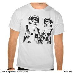 Cats in Space T-shirts