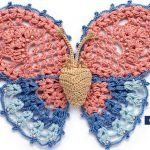 How To Easy Free Crochet Butterfly Pattern Crochet Butterfly Free Pattern, Crochet Motif Patterns, Stitch Patterns, Freeform Crochet, Thread Crochet, Knit Crochet, Crochet Simple, Crochet Gratis, Butterfly Crafts