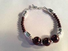 Brown Bracelet Bridesmaid Jewelry Brown Pearl Bracelet by cdjali, $18.00