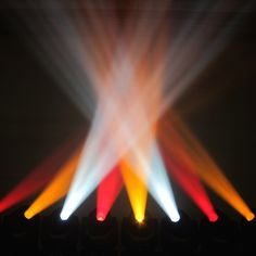 Summer/Fall color palette. Chauvet Rogue R2 Spots fired up in our shop.