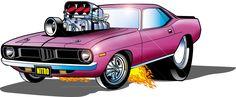 mopar cartoon cars - Buscar con Google