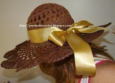 Chapéu de Crochet - Hat Crochet- Gente, meu chapéu reformado. Na primeira tentativa de endurecer o croche não fui muito feliz (vejam foto ...