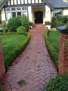 Love the herringbone brick walkway