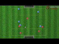 Soccer Drill On How To Attack with Depth - YouTube
