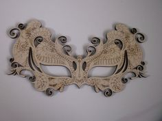Masquerade Mask Laser Cut and Etched Wood Home by TomaCraftPlace