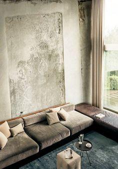 cozy and low living room seating via ulfg bohlin.  / sfgirlbybay