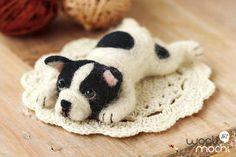 Miniature French Bulldog Needle Felting Kit by WooliMochi on Etsy, $14.00