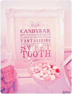 Candy Bar #wedding