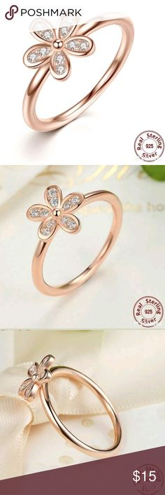 14kt Rose Gold Daisy Flower Ring w/Diamond Accents 14kt Rose Gold Daisy Flower Ring w/Diamond Accents Jewelry Rings