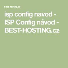 isp config navod - ISP Config návod - BEST-HOSTING.cz