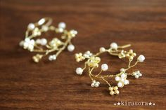 X'mas限定 ornament dress up ピアス&ネックレス set Wire Jewelry, Bridal Jewelry, Jewelry Art, Beaded Jewelry, Jewelery, Handmade Jewelry, Diy Jewelry Projects, Mp5, Flower Hair Accessories