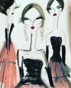 Three graces from #Prefall16. Illustration by the talented Blair Breitenstein
