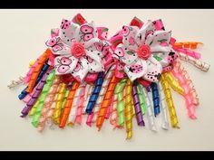 Яркая повязка канзаши из узкой ленты 12 мм / Kanzashi headband for baby Tutorial / DIY - YouTube