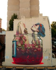 Polish artists Sainer and Bezt, collectively known as Etam Cru, paint large scale murals of surreal and frequently humerous subjects in locations mostly around Eastern Europe. #EtamCru #Sainer #Bezt